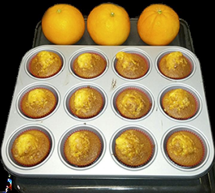 Receta de magdalenas con naranja