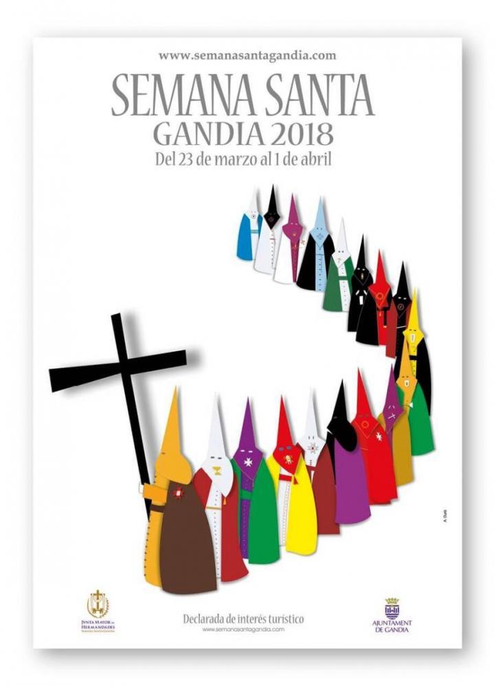 Semana Santa 2018 en Gandia (Valencia)