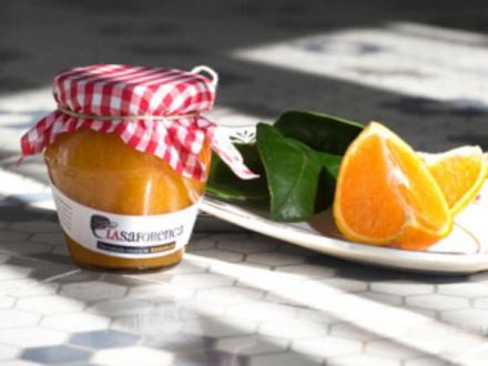 Mermelada casera de naranja.